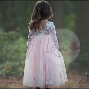 Other - Girls Flower Girl Pink Tulle Dresses